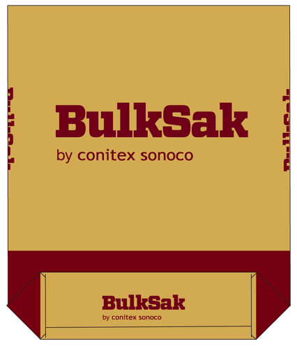 Pasted bottom paper bag by Conitex Sonoco and BulkSak