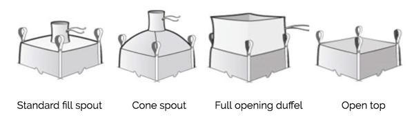 FIBC-spout-options | Conitex Sonoco