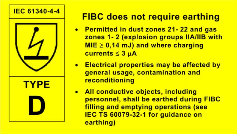 FIBC Bag label