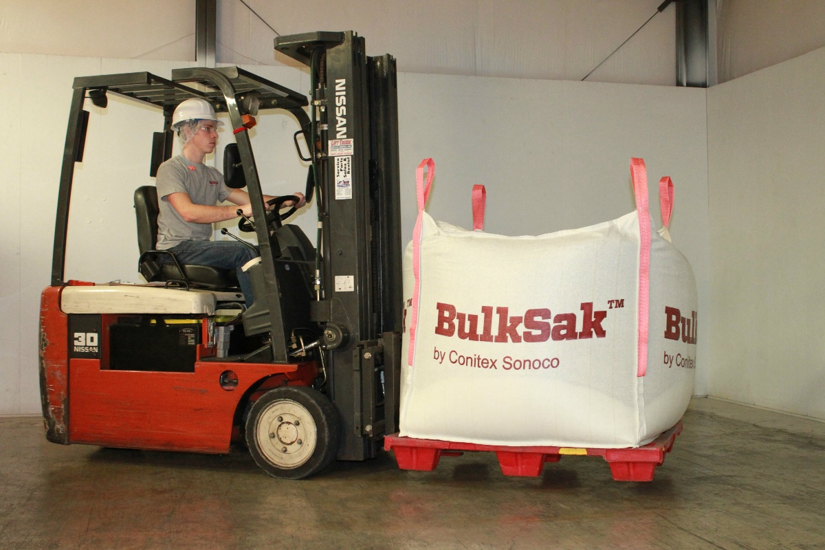 Bulk bag on fork lift | BulkSak