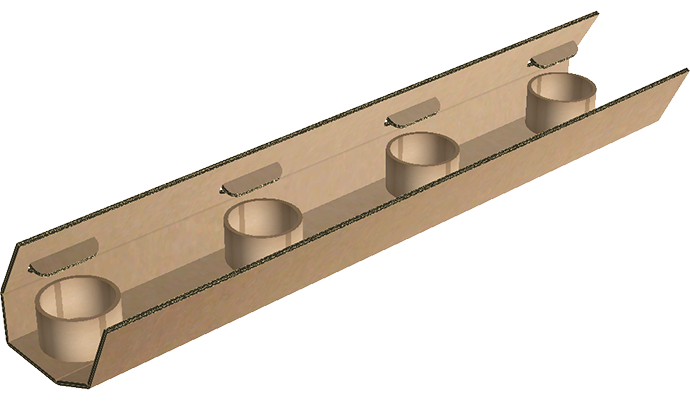 2-way corrugated runner