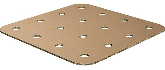 corrugated die cut pallet divider