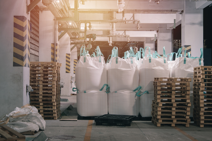 Bulk bags in warehouse ready to ship.