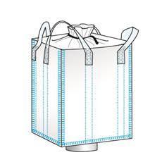 bulk bag used for hemp storage spout bottom